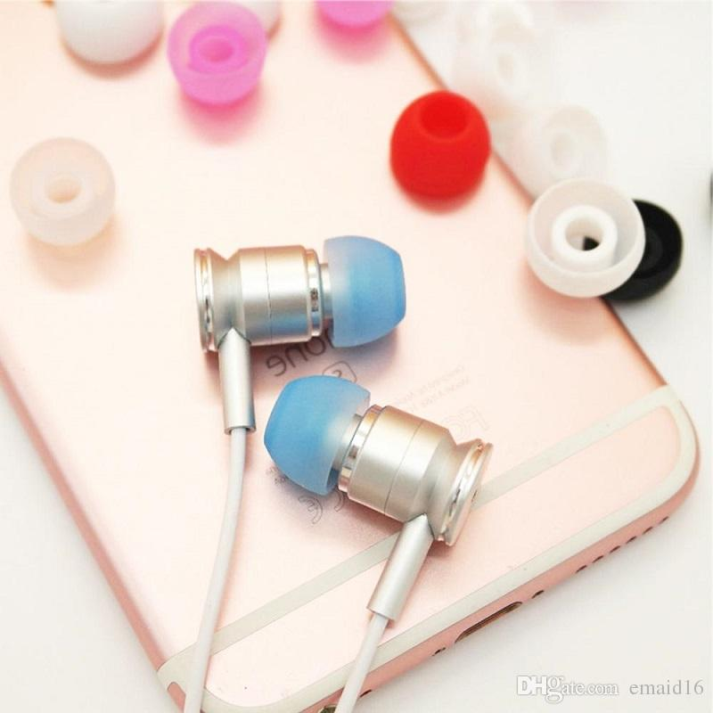 Silicone Earbuds Tips Eargels Replacement In-ear Earphone Ear Tips 4.5mm Compatible with Most Earphones 4.5mm-6.0mm Diameter