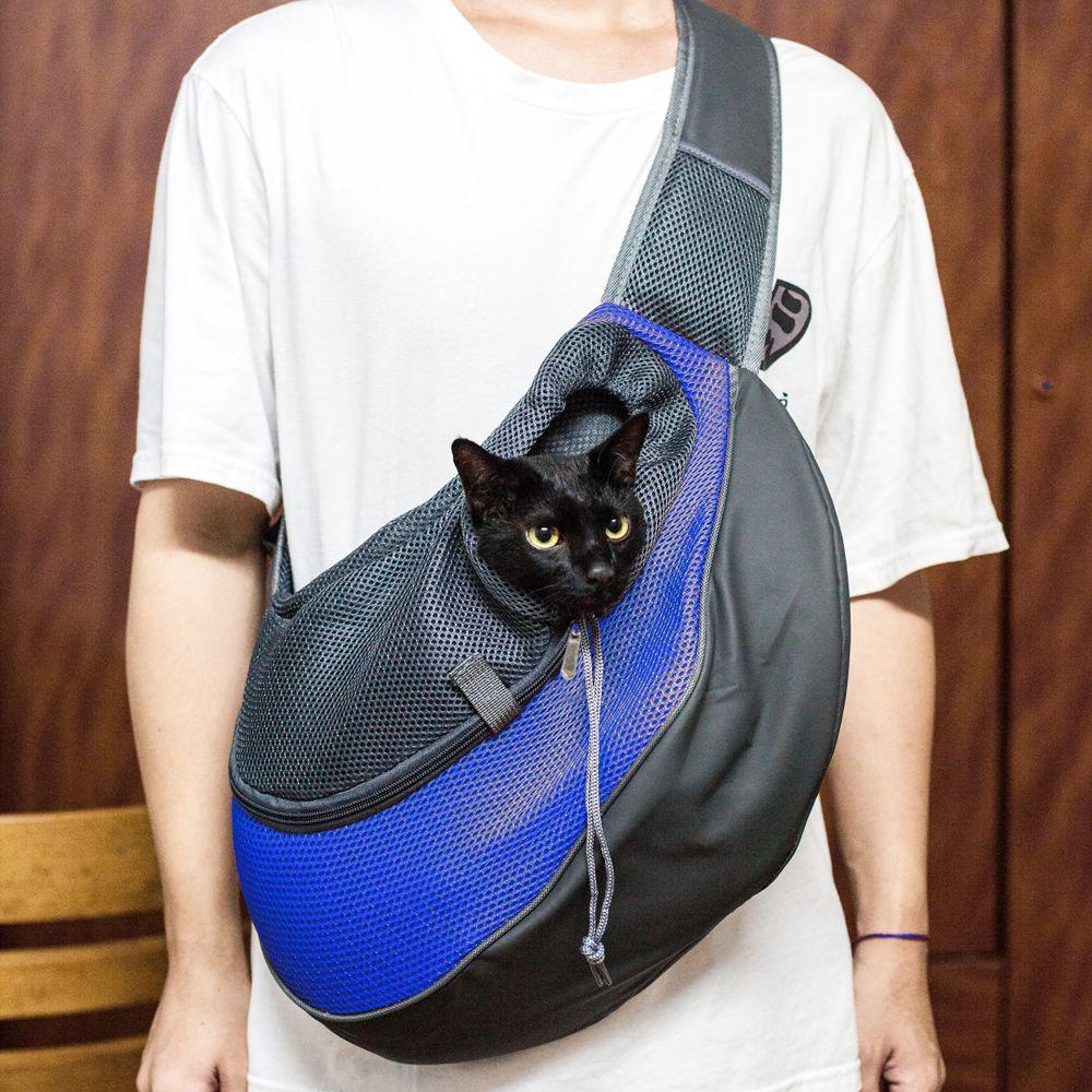 القطة كلب جرو الناقل الراحة في السفر المراهنات حقيبة الرافعة حقيبة الظهر اللون الأزرق L