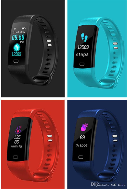 YENI Y5 Akıllı Bilezik Bileklik Spor Izci Renkli Ekran Kalp Hızı Uyku Pedometre Spor Su Geçirmez Etkinlik Izci