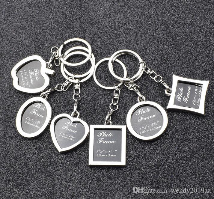 DHL100pcs Cute Love Oval Square Shaped fashion key chain ring holder women bag&car accessories