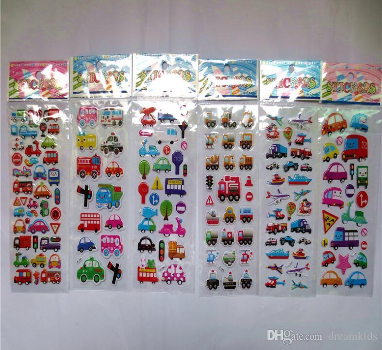 3D Cartoon stickers 7*17cm Puppy 3D Bubble stickers Teacher Lovely Reward Sticker Theme Party Favors For Kids Birthday Decoration