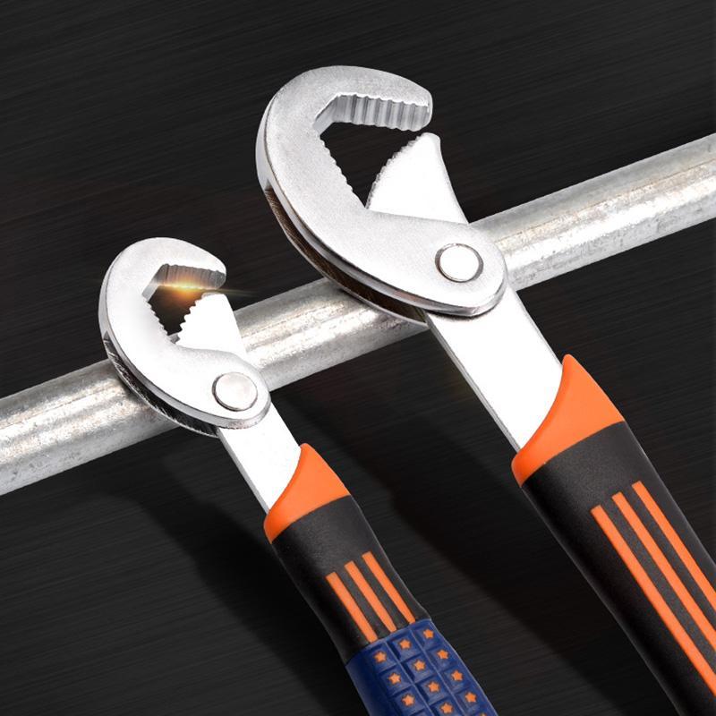 2pcs Multifunctional Wrench Non-slip Ergonomic Handle Wear Resistant Tube Pipe Wrench Spanner-30