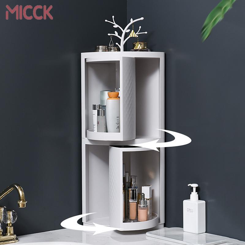 MICCK Yeni Plastik 360 Döner Banyo Mutfak Depolama Raf Organizatör Duş Raf Mutfak Tepsi Tutucu Yıkama Duş Organizatör T200319