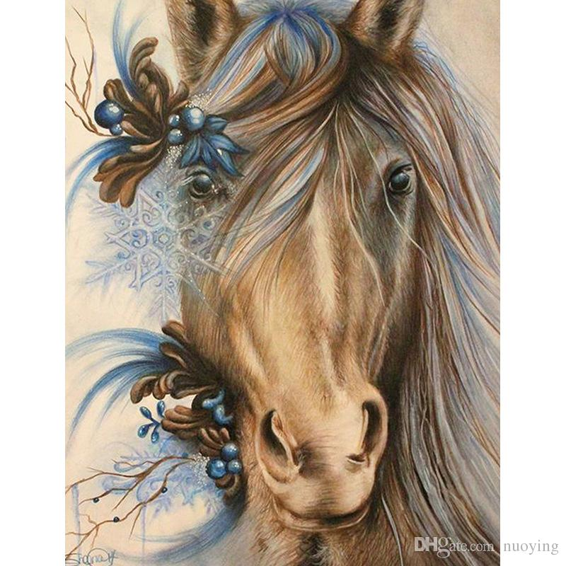 UK Colour Horse Full Drill DIY 5D Diamond Painting Embroidery Cross Stitch MA