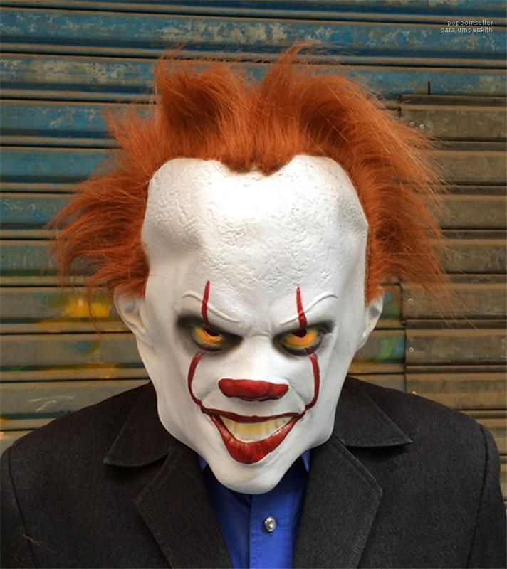 Festa de Halloween Máscaras Homens Mulheres rosto cheio Engraçado Cosplay Movie Star traje Acessório Clown