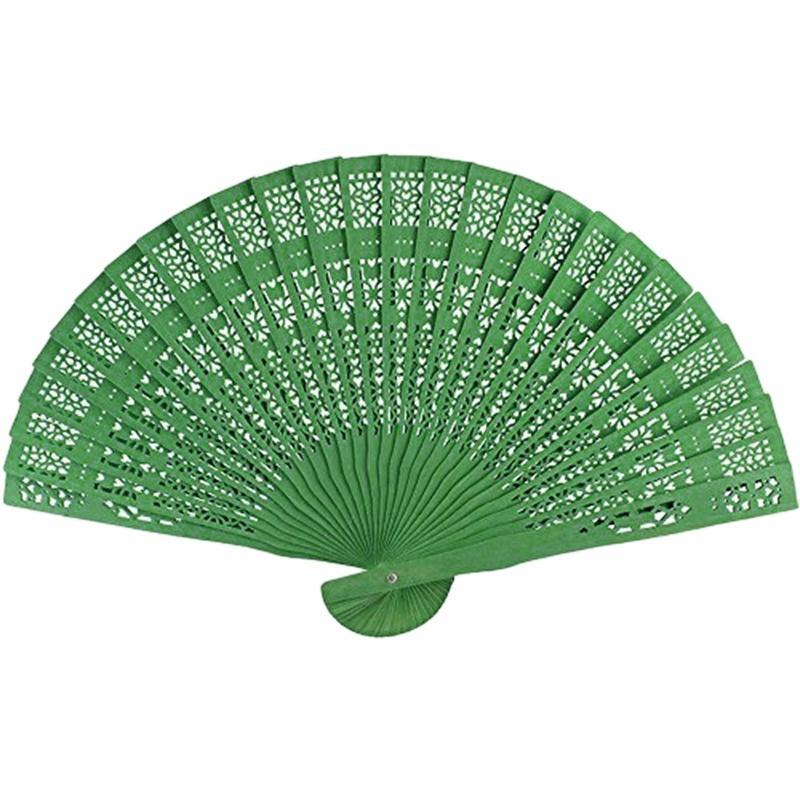 8 дюймов Китайский Японский веер Оригинальный деревянный ручной цветок Bamboo карманный вентилятор для домашнего декора украшение партии Другое Home Decor