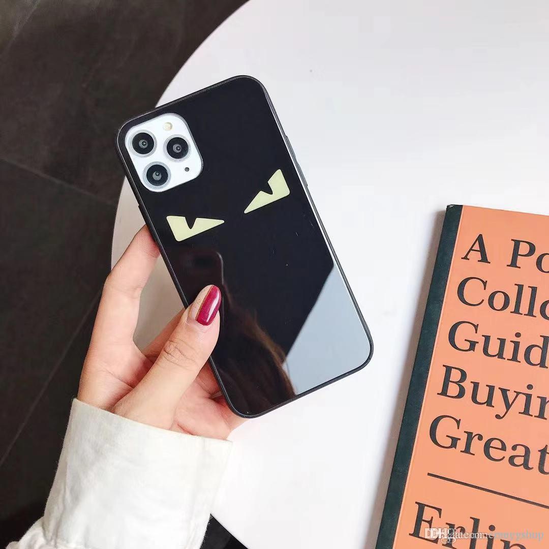 iPhone Para luxo designer Super Itália Devil Eyes Phone Case 11 Pro MAX X XS XR 7 8 6 6s Mais de tendência de moda temperado tampa de vidro