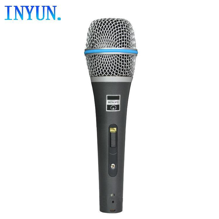 kablolu mikrofon KTV mikrofon konferans performans ev K şarkı BETA87 fonoloji bobin Fabrika doğrudan metal dinamik