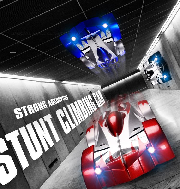 RC Car Wall Racing Car Toys Climb Ceiling Climb Across the Wall Remote Control Toy Car Model Christmas Gift for Kids