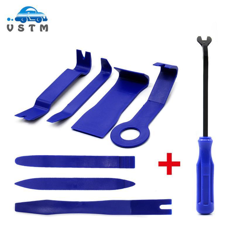 7pcs Remover Remover Remover Removal Puller Pry Tool Door Panel Trim Uplstery Retaining Clip Pier Tool Set