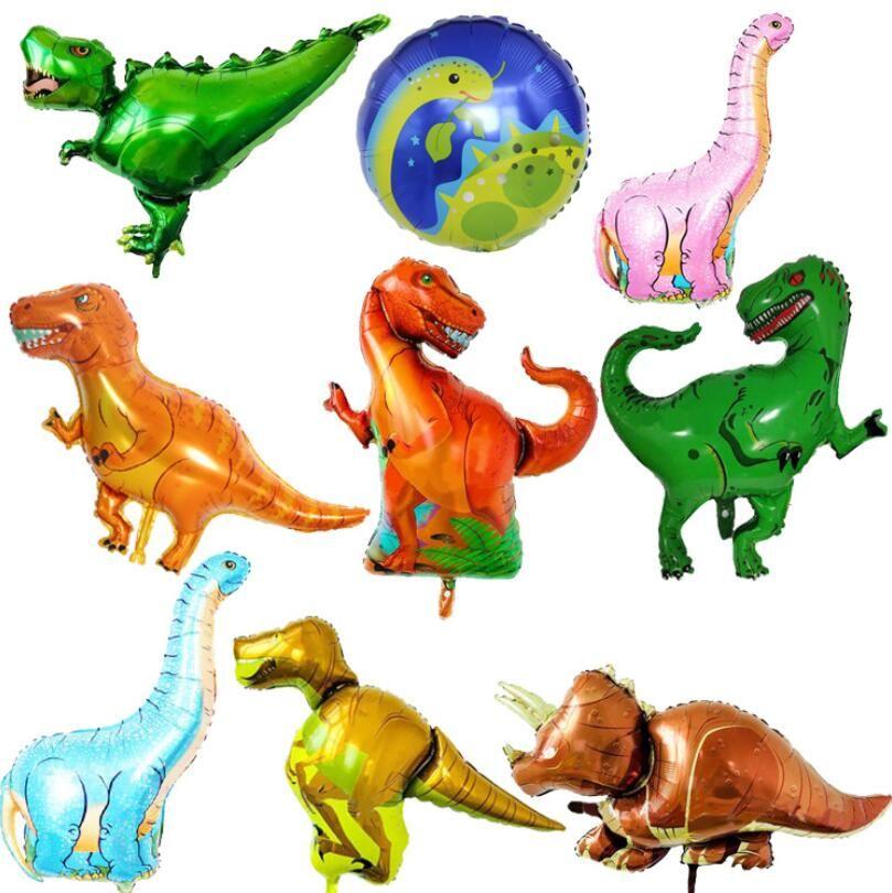 Tiranosaurios rapaces triceratops Jurásico dinosaurio tamaño grande globos fiesta de cumpleaños del muchacho decoración baby shower helio globos para niños