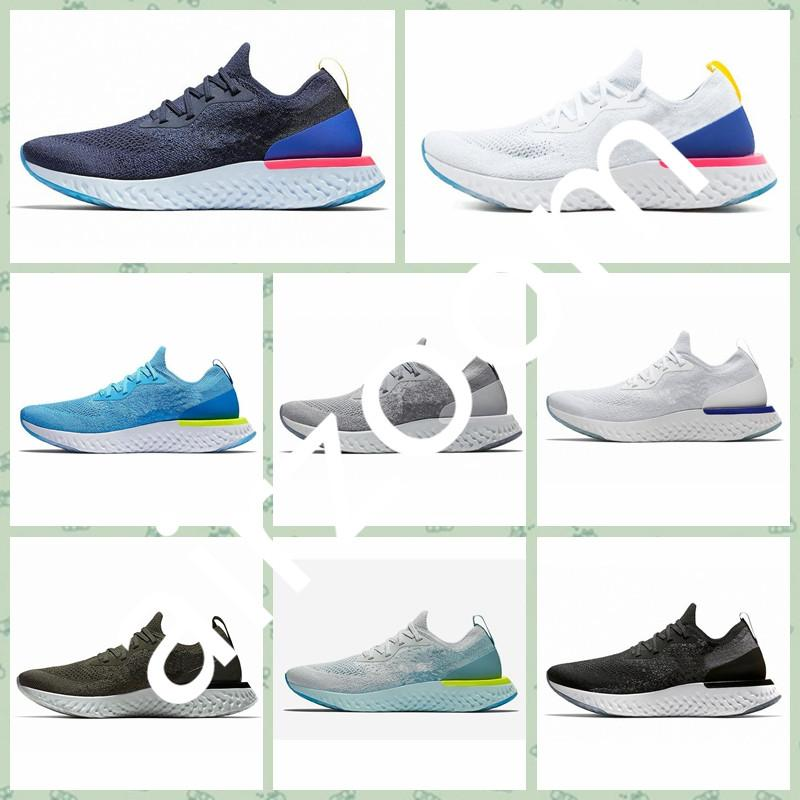 NREA1A Hot sale good quality Men Running Shoes Fly Epic React S0UTH College Navy Triple Dark Grey Knit Designer Sport Sneakers size36-45