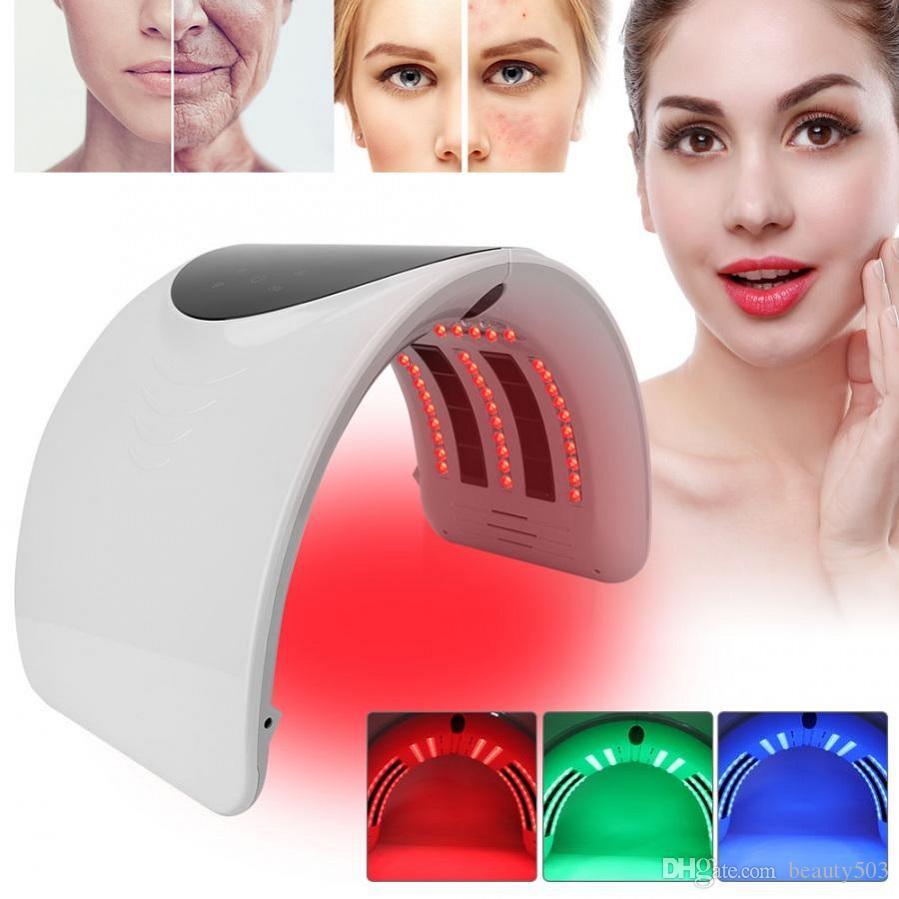 7 ألوان العناية PDF أدى العلاج بالضوء قناع الوجه تجديد الجلد فوتون جهاز سبا حب الشباب مزيل المضادة للتجاعيد الجلد الضوء الأحمر