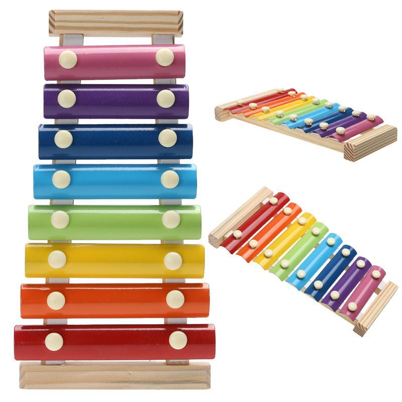 آلات الموسيقى لعبة إطار خشبي نمط إكسيليفون أطفال الأطفال الموسيقية مضحك لعب اطفال ألعاب تعليمية هدايا CX200608