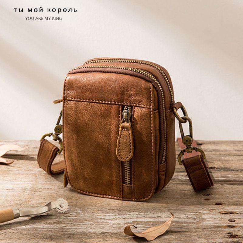 Sac homme en cuir véritable petite épaule Voyage Homme Messenger Designer Mini Crossbody sacs à main de haute qualité Zip Casual Sacs souples