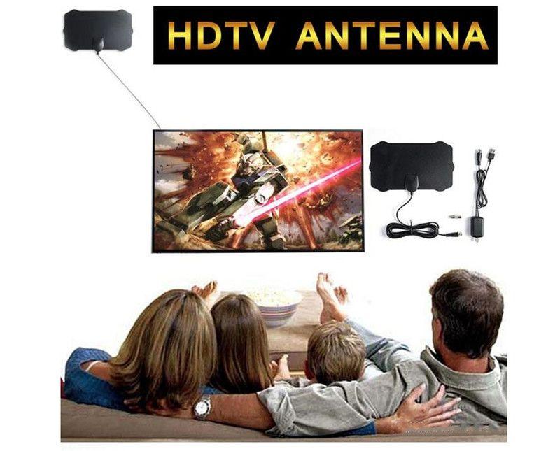 التلفزيون TV أجزاء انتينا 200 ميل المدى هوائي التلفزيون الرقمي HD Skywire 4K الرقمية HDTV 1080P داخلي TV هوائيات