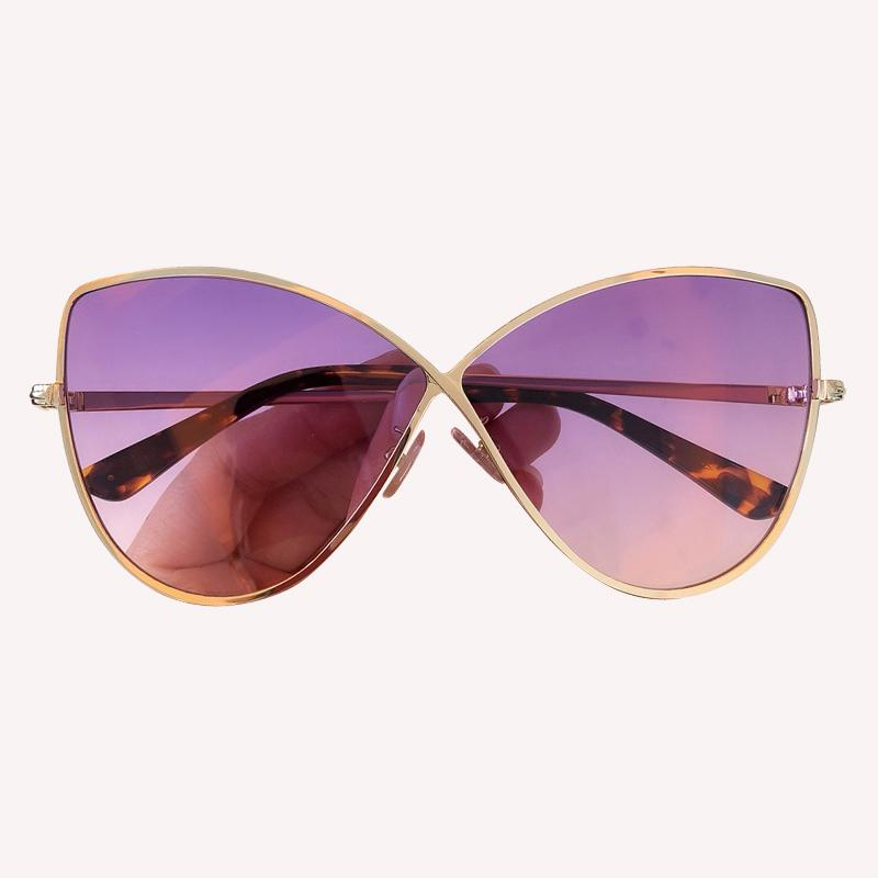 2019 Sexy Cat Eye Shades for Women Mirror Sunglasses Vintage Fashion Metal Frame Eyewear UV400 Glasses Gradient Sun Glasses With Packing Box
