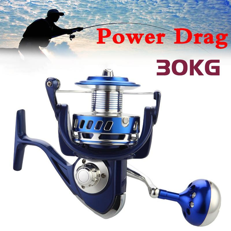 30 kg de puissance glisser tous les moulinets de rotation en métal 6000 7000 8000 9000 10000 lourds pêche en mer pêche pêche jigging reel