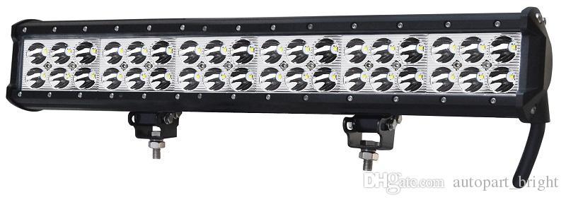 "vendita calda 17 pollici 17 ""108 W Cree Led lavoro Light Bar lampadina Flood Spot fascio Combo PC Lens per Jeep Car Truck 4x4 fuoristrada Refit Lampada guida"
