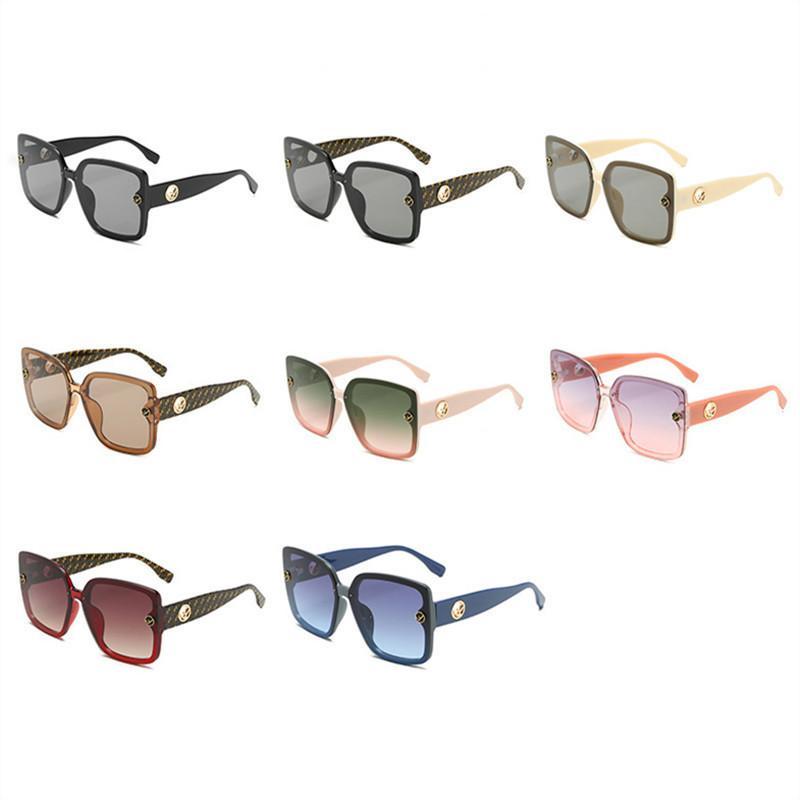 Designer de moda Women Sunglasses Big Quadrado Moldura Ladies Eyewear Sun Ar Livre Verão Óculos de praia Óculos de sol vintage da qualidade superior 7 cores