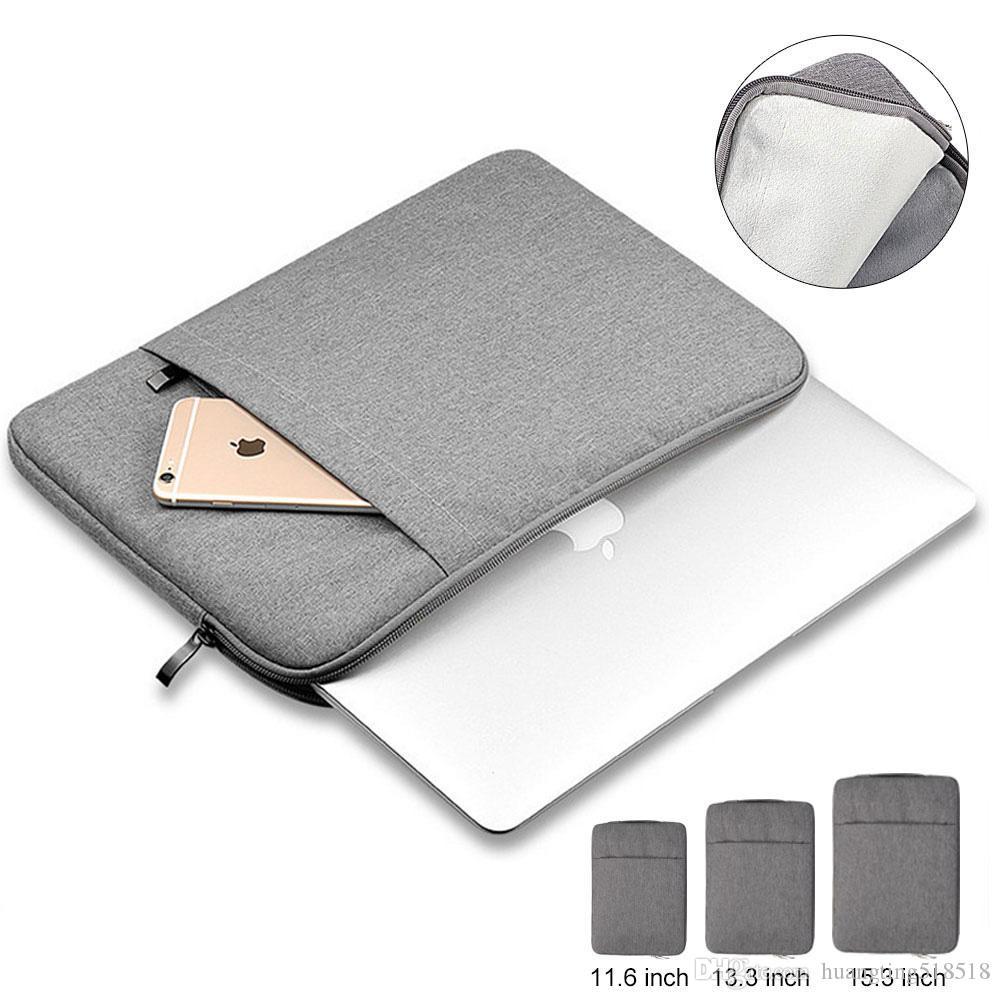 "Manga capa para Laptop 11"" , 13"" , 14"" , 15,15.6 polegadas, Saco Para Macbook Air Pro 13.3"" , 15.4"""