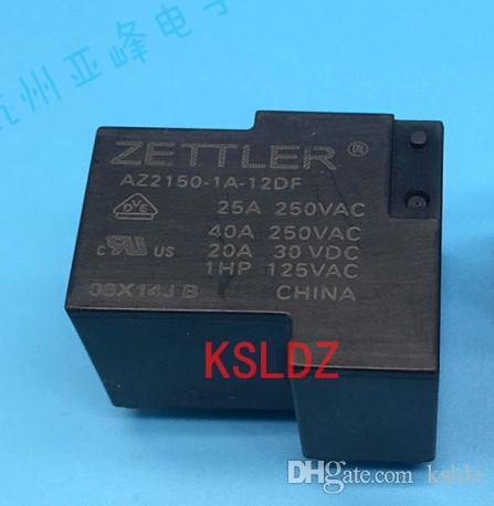 Free shipping lot(5pieces/lot)100%Original New ZETTLER AZ2150-1A-12DF 12VDC 4PINS 40A250VAC Power Relay