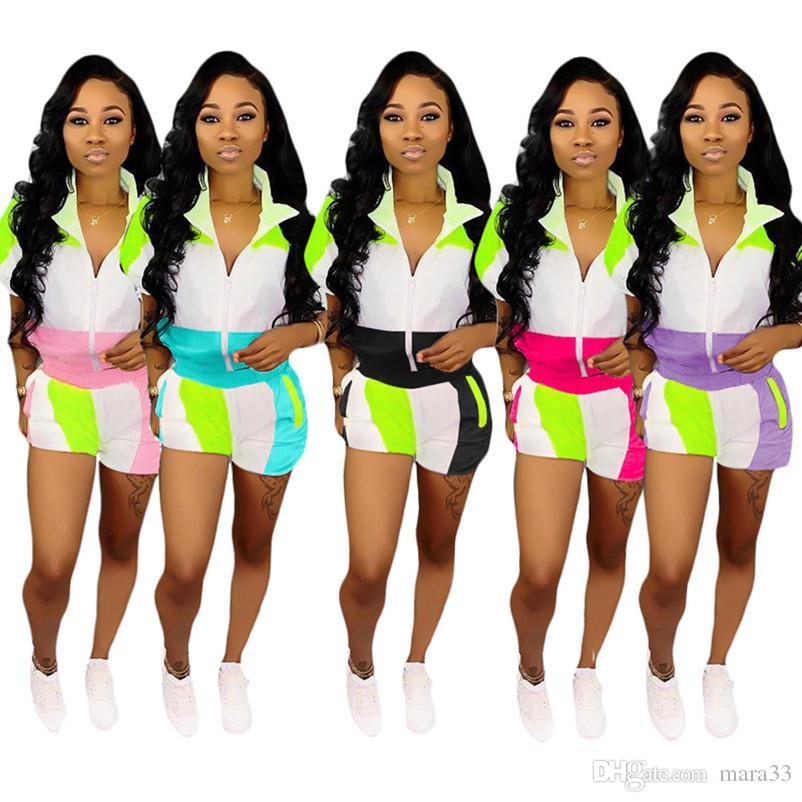 2 комплекта спортивной одежды спортивный костюм кардиган спортивный костюм панельные пиджаки облегающие леггинсы шорты выше колена летняя одежда плюс размер 329