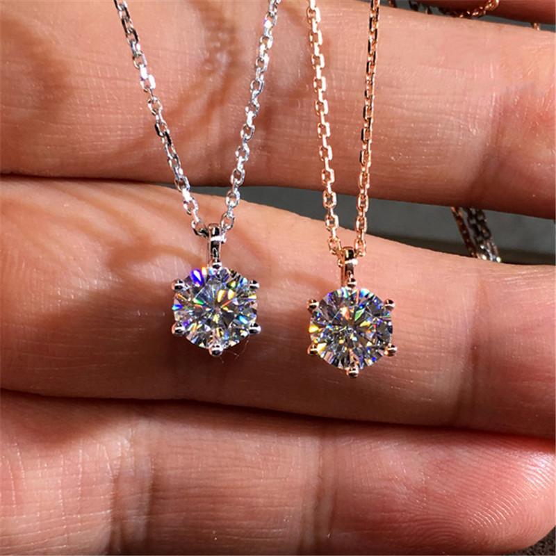 Collar colgante de cristal 2020 de boda clásico color de plata para las mujeres del Rhinestone de moda de joyería del collar del collar