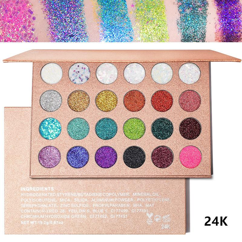 NO Logo 24 colors glitter eyeshadow Shining makeup Eyeshadow Palette Shine Glitter Eyeshadows Waterproof Cosmetic Make Up Eye shadow