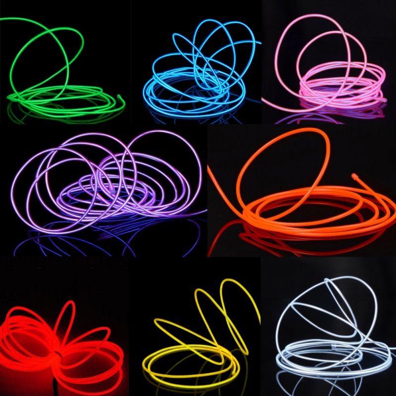 USB 5V провода EL неоновые светодиодные ленты Lights Светящиеся постробирования автомобилей Внутреннее освещение Хэллоуин Рождество Dance Party Decor Led строка Light