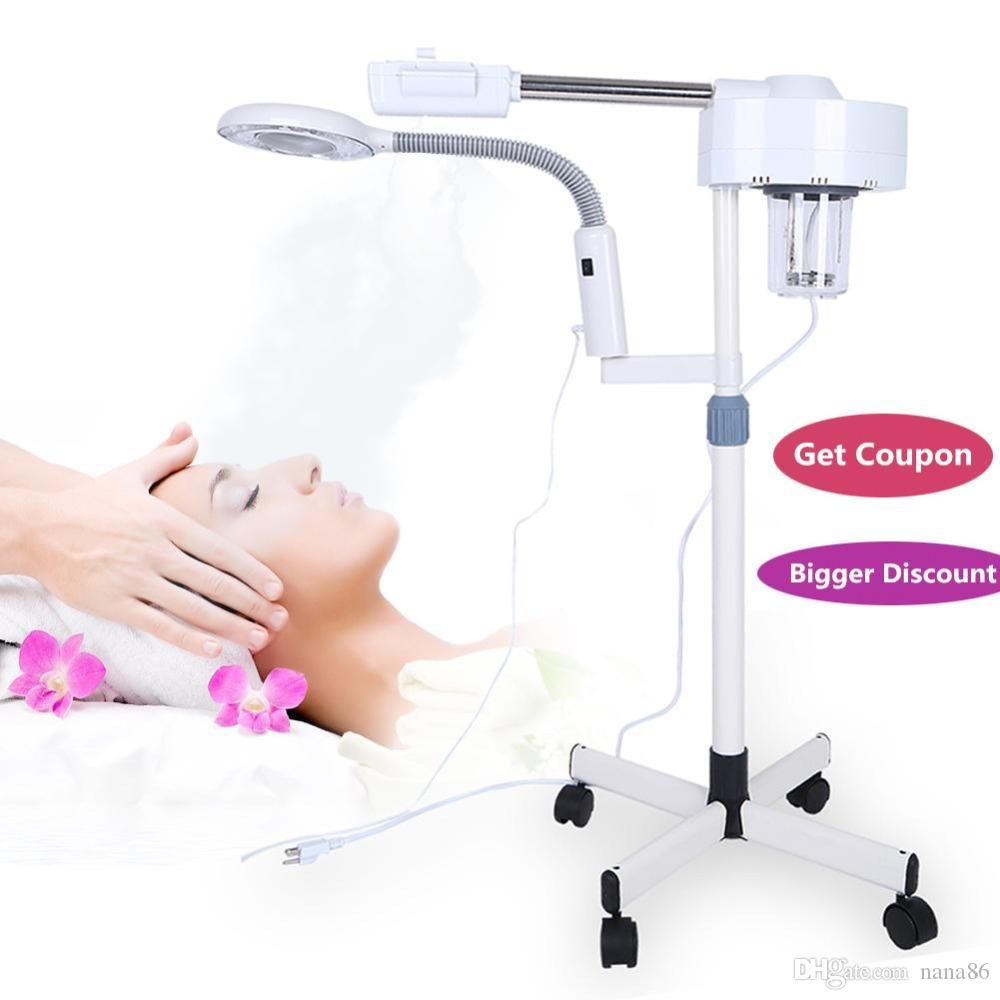 Professional 2 In Hot Face Steamer 3X Лупа Лампа Машина Спа-Салон Красота Уход за кожей Оборудование