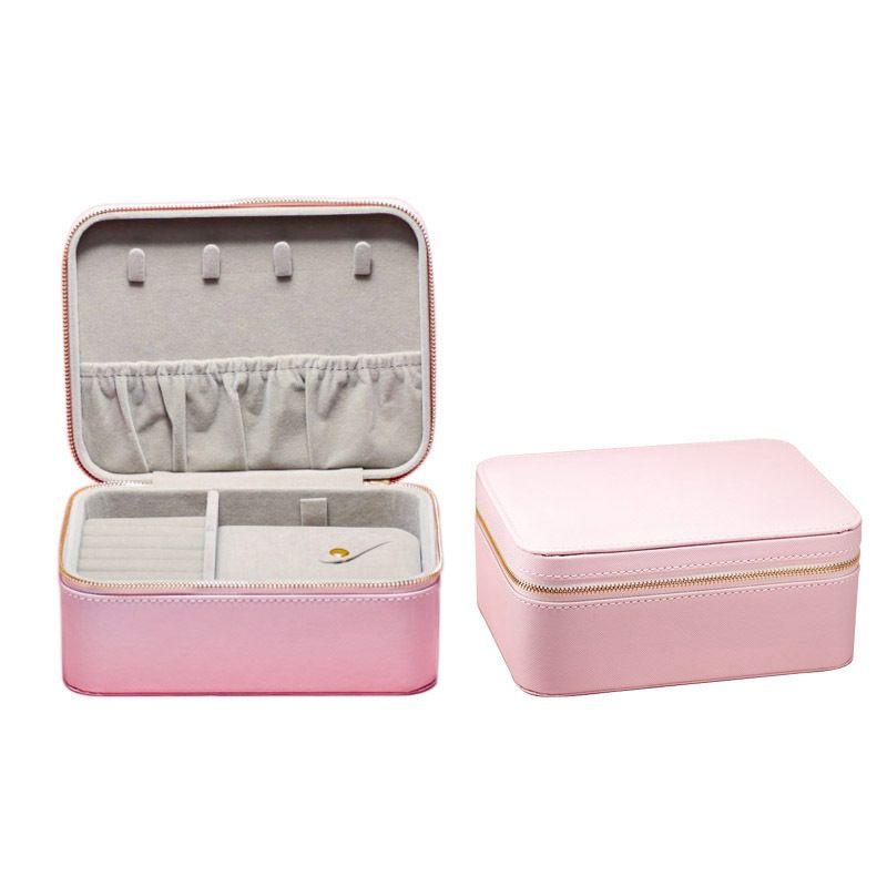 2020 Limited Edition Pandora Cuir rose Boîte à bijoux cas charms bagues et bracelets
