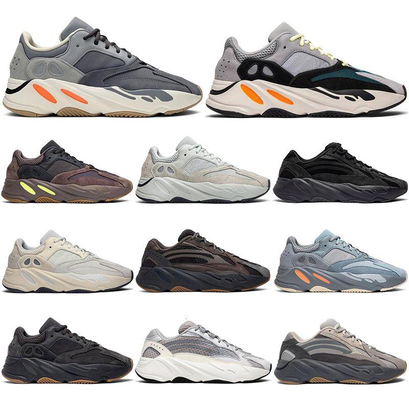 2019 700 2 Kanye West Aceno Geode corredor Shoes das mulheres dos homens instrutor S V estática Sports malva Sneakers Sólidos Designer Grey Luxo