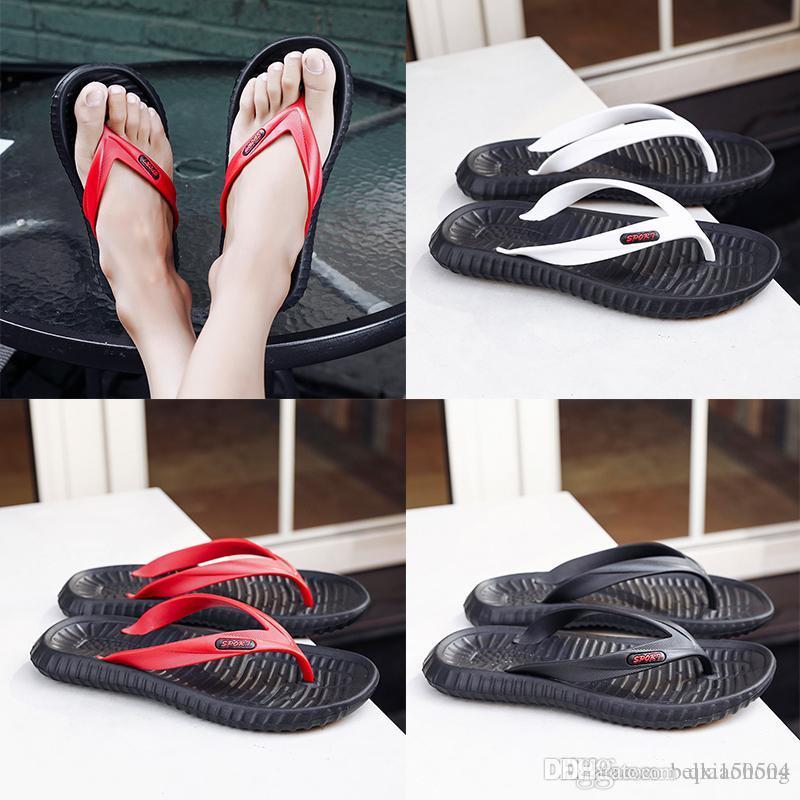 Scarpe casual Designer di alta qualità pantofole ingranaggi Bottoms uomini a strisce sandali casuali dello slip estive massaggio pantofole all'aperto sulla spiaggia flip-flop
