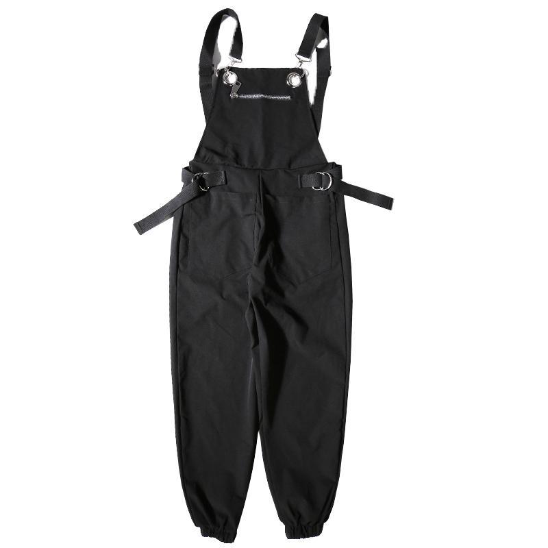 Erkekler Rasgele Fermuar Önlüğü Pant Streetwear Harem Pantolon tulumlar Erkek Kadınlar Hip Hop Tulumlar Pantolon