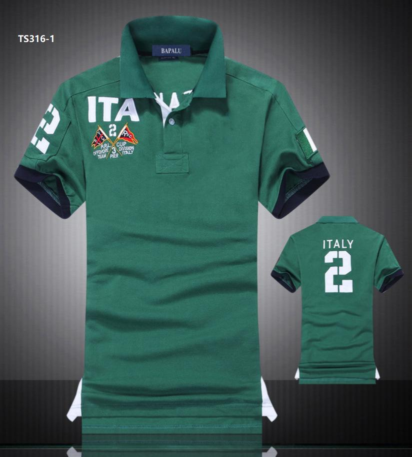 Designers design new embroidered lapel cotton short-sleeved polo shirt men's national rowing high-quality explosive direct sales
