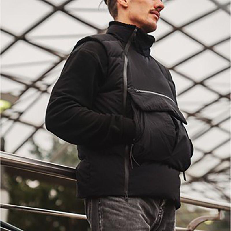 رجال الرياضة الصدرية Techwear رياضية Windrunner السترة سترة كاملة الرمز متعدد جيوب المساعدة سترات خريف وشتاء جاكيتات في الهواء الطلق للرجال النساء