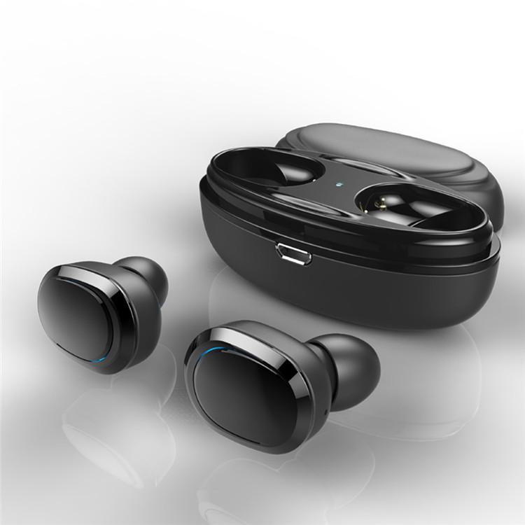 2020 inalámbrica Bluetooth T12 TWS gemelos auricular con el muelle del cargador auriculares estéreo de auriculares para el teléfono elegante
