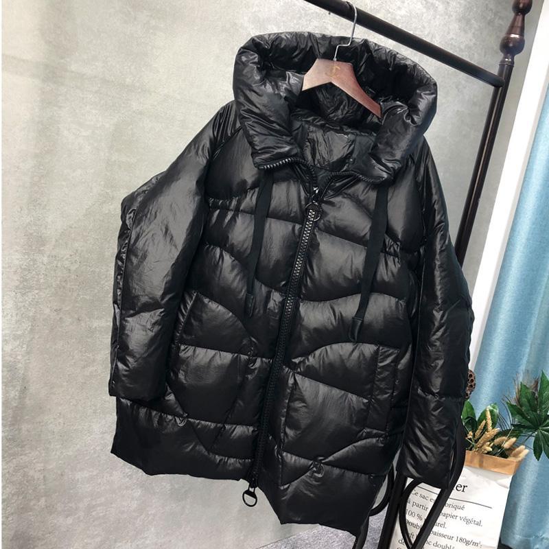 Winter Coat Women 2019 Winter Women Down Jacket Medium Length Female Thick Hooded Down Parka Coat White Duck Jacket