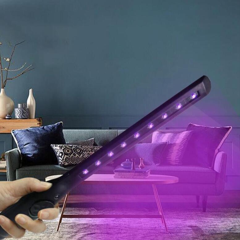 Désinfection tige Lampe De Poche Ultraviolet Stérilisateur Lampe Portable Rechargeable UV désinfection bâton acariens lumière Supprimer lampe LJJO7804