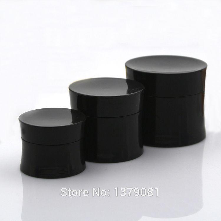 30шт 15г/30г/50г пустой черный плотный поясной контейнер.Пустая баночка крема для лица Travel PP.Косметическая Пластиковая Коробка.Косметическая Упаковка