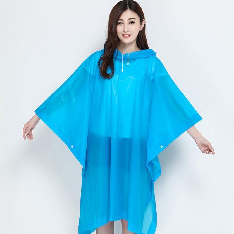 E19 5yt Ücretsiz Kargo Binme Kapşonlu Rainwear Plastik EVA Şeffaf Dış Mekan Acil Trençkotlar Yeniden kullanılabilir Seyahat Panço Yağmur Giyim Unisex 4