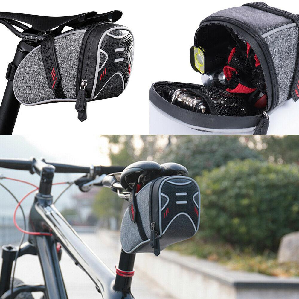 Bicycle Saddle Bag Waterproof MTB Mountain Bike Rear Back Under Seat Tail Bag