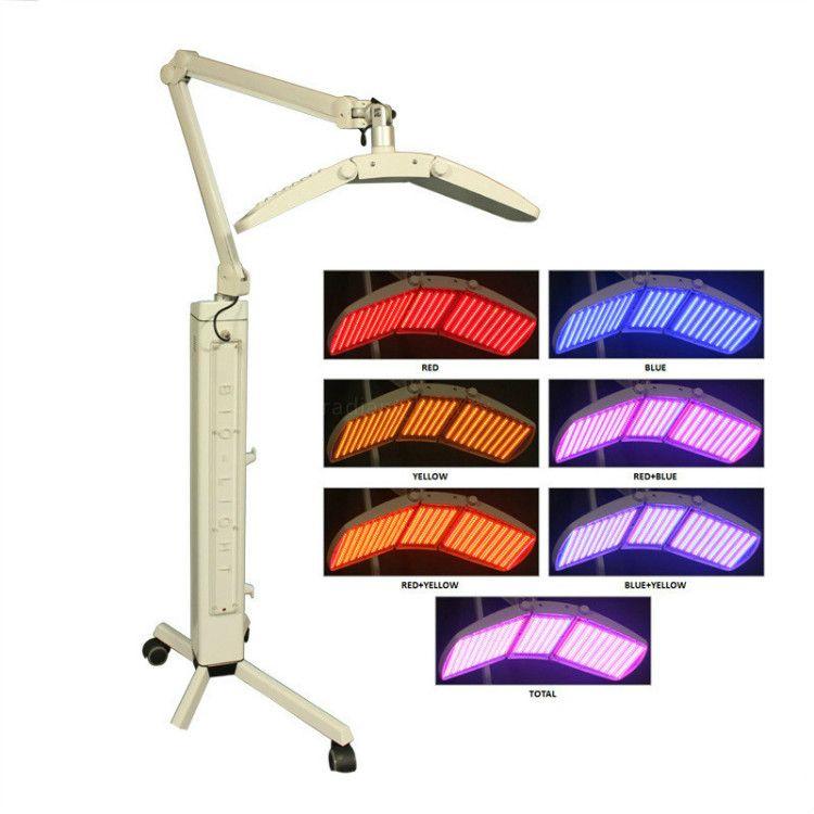 7 Cores LED PDT Luz PDT LED Lamp Led Photon Light Therapy Facial Spa máquina para rejuvenescimento da pele