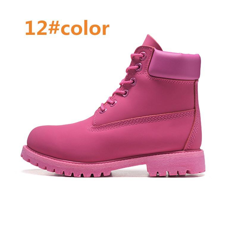Uomo Donna stivali impermeabili informale all'aperto Martin scarpe da trekking scarpe sportive di marca coppie genuino caldo del cuoio Snow Boots High Cut inverno