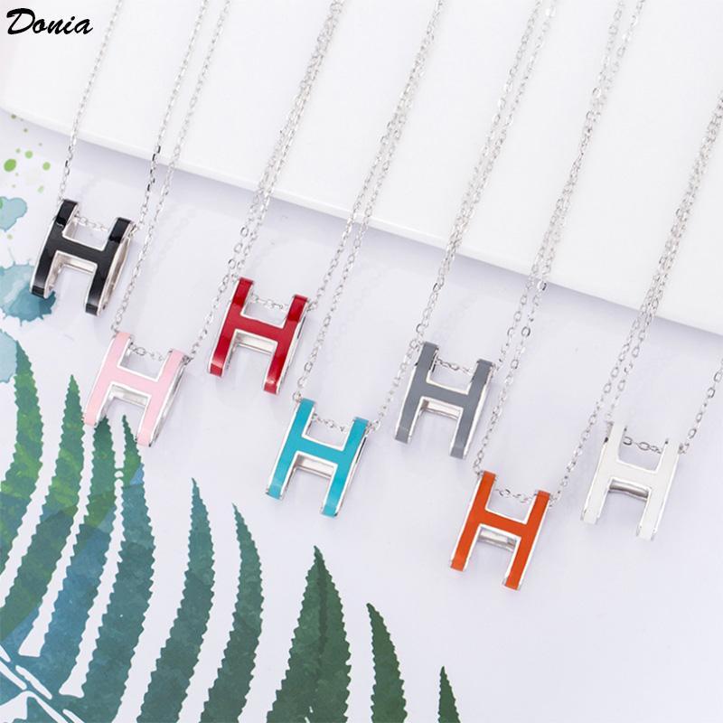 Donia Schmuck Euro amerikanische Art und Weise 925 Silber micro eingelegte Farbe Emaille Halskette Mode-Accessoires Luxus Geburtstagsgeschenk