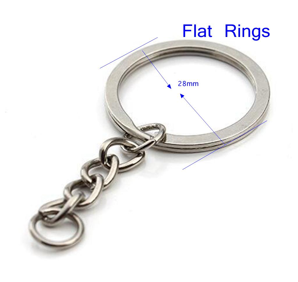 100pcs Keychain Split Key Ring with Chain Split Key Ring with Chain Silver Gold Guqing Color Metal Split Keychain Ring Parts Jump Rings