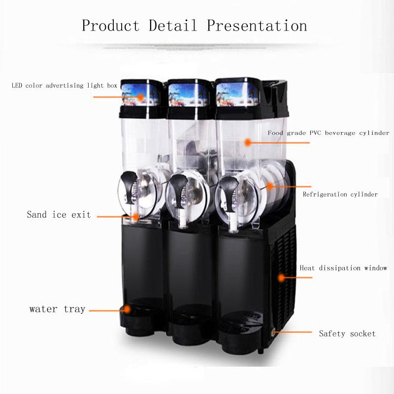 2020 most popular automatic 15L * 3 cans snow melting ice maker high quality smoothie snow melting machine factory direct sales