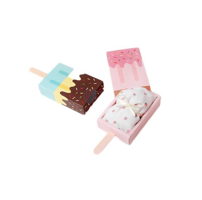 ice cream shape pink candy drawing paper boxes cute gift packing boxes wedding birthday party decoration 250pcs