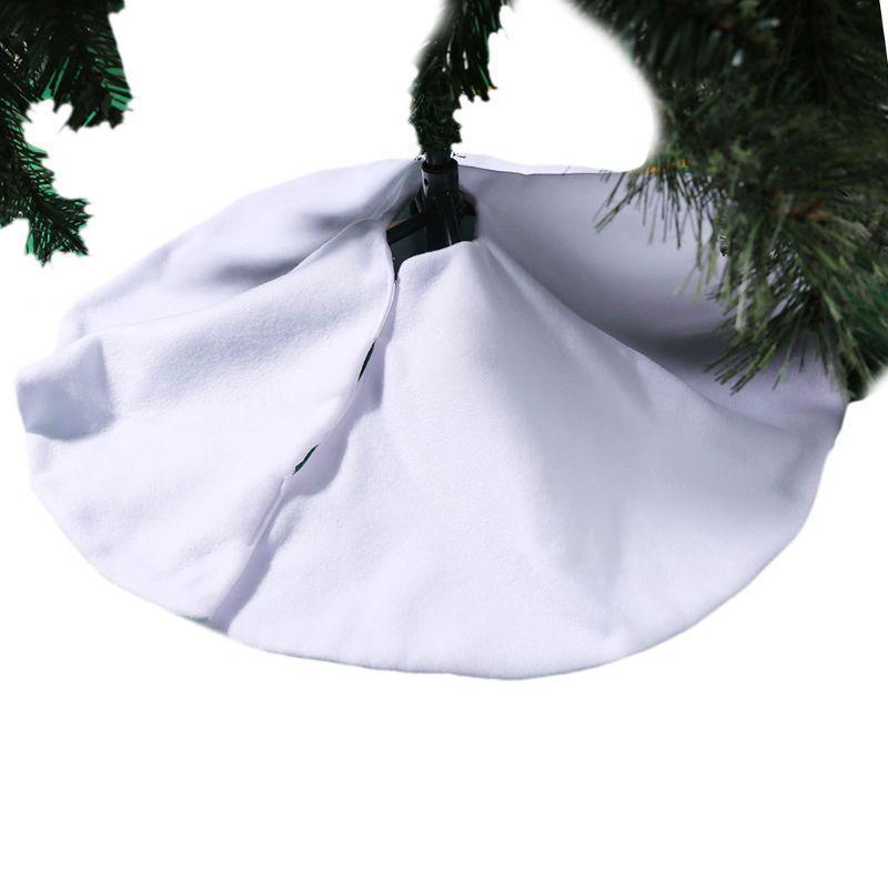 OOTDTY 78cm Arbre de Noël blanc Jupe souple Bas Tapis de sol en peluche Tapis Couverture Xmas Party Décoration de Noël Arbre Jupes